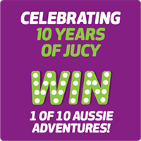 Win one of ten Aussie trips with JUCY